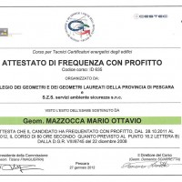 Energy Certification Body Certificate